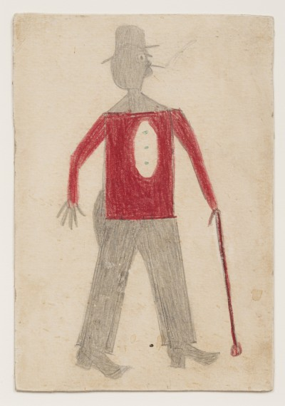 Bill Traylor - Man Red Shirt Cane