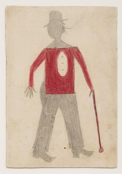 Bill Traylor - Man Red Shirt Cane