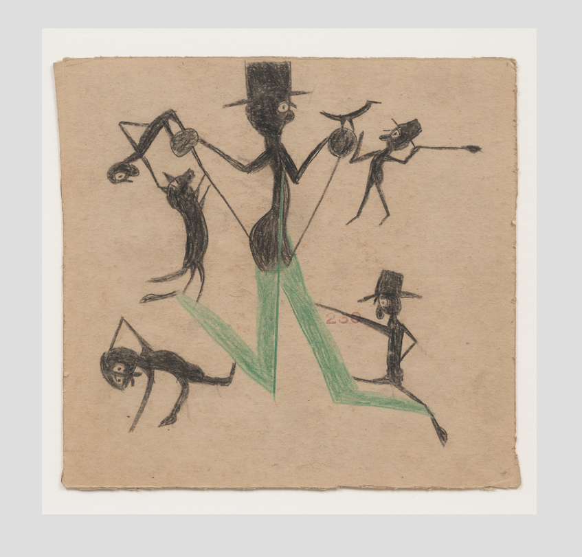Man with Top Hat Green Trousers